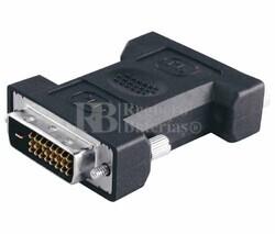 Adaptador DVI-I estéreo hembra a DVI-D estéreo macho