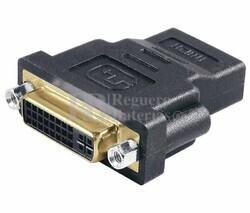 Adaptador DVI-I estéreo hembra a HDMI hembra