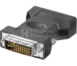 Adaptador DVI-I estéreo macho a VGA hembra