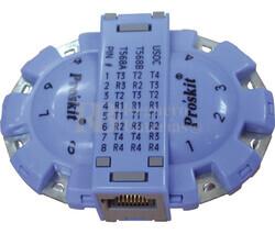 Adaptador para pruebas de conectores modulares