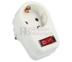 Adaptador red Schuko con interruptor