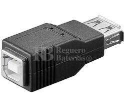 Adaptador USB-A hembra a USB-B hembra