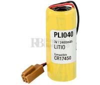 Batería CR17450 Litio 3 Voltios 2.400 mAh con conector y resistencia de carga