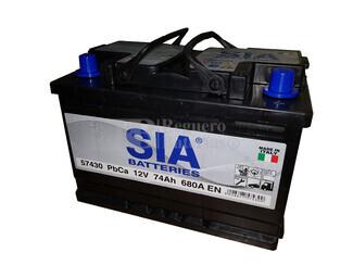 Batería de arranque 12 Voltios 74 Ah EN 680A SIA BATTERY 276x175x190
