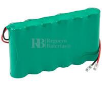 Batería para Electromedicina 7.2 Voltios 2.400 mAh NI-MH 86,0x51,0x14,0mm