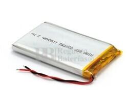 Batería recargable 3.7V 1.100 Mah de Polímero de Litio GSP053759