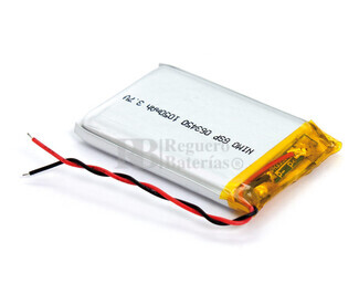 Batería recargable 3.7V 1.100 Mah de Polímero de Litio GSP063450