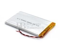 Batería recargable 3.7V 2.000 Mah de Polímero de Litio GSP485080