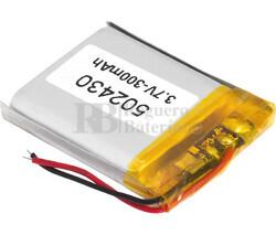 Batería recargable 3.7V 300 Mah de Polímero de Litio 502430PL