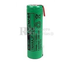 Batería AA 1.2 Voltios 2,2 Amp NiMh recargable C/Lengüetas