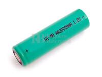 Batería AA 1.2 Voltios 2 Amp NiMh recargable S/Lengüetas
