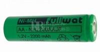 Batería AA 1.2 Voltios 2,2 Amp NiMh recargable S/Lengüetas