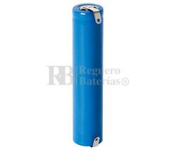 Batería ICR14650 Li-Ion 1.100 mAh con lengüetas