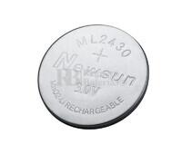 Batería recargable Litio ML2430 3Voltios 110mAh