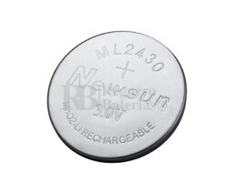 Batería recargable Litio ML2430 3Voltios 110mAh