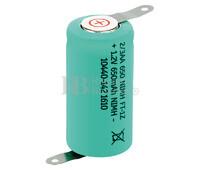 Batería recargable Ni-Mh 1/2 AA, 2/3AA 1.2 Voltios 650 mAh