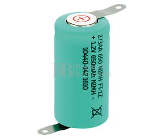 Batería recargable 1-2 AA, 2-3AA 1.2 Voltios 600 mAh C-Lengüetas