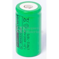 Batería recargable R14 1.2 Voltios 4.500 mAh sin Lengüetas