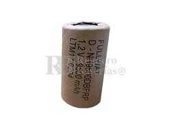 Batería recargable R20 1.2 Voltios 9.500 mAh Sin Lengüetas