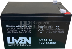 Batería 12 Amperios 12 Voltios LV12-12