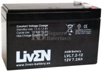 Batería 12 Voltios 7.2 Amperios LVL7.2-12