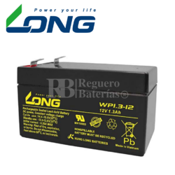 Batería 12 Voltios 1,3 Amperios Long WP1.3-12