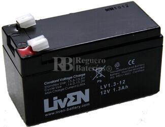 Batería 12 Voltios 1,3 Amperios LV1.3-12