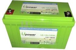 Batería Litio Bluetooth 12 Voltios 100 Amperios UE-12Li100BL