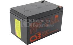 Batería 12 Voltios 12 Amperios Csb GP12120F2