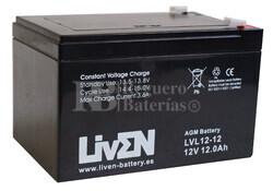 Batería 12 Voltios 12 Amperios LVL12-12 Larga Vida