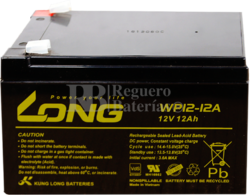 Batería 12 Voltios 12 Amperios Long WP12-12