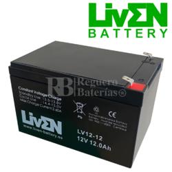 Batería 12 Voltios 12 Amperios UP12-LV12