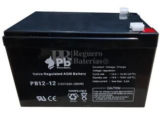 Batería 12 Voltios 12 Amperios Pb12-12 Premium Battery