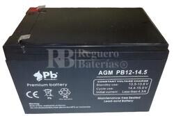 Batería 12 Voltios 14,5 Amperios PB12-14.5 Alta Potencia