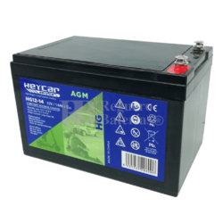 Batería 12 Voltios 14 Amperios Carbón Gel HG12-14