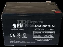 Batería 12 Voltios 14 Amperios Cíclica PBC12-14