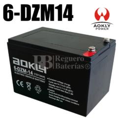 Batería 12 Voltios 14 Amperios Movilidad 6DZM14
