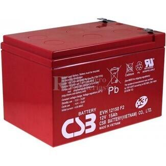 Batería 12 Voltios 15 Amperios Csb EVH12150
