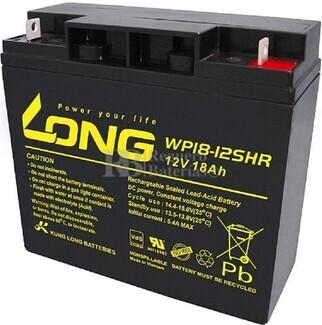Batería 12 Voltios 18 Amperios Long WP18-12SHR