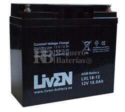 Batería 12 Voltios 18 Amperios LVL18-12