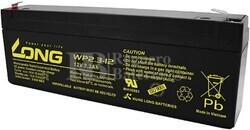 Batería 12 Voltios 2,3 Amperios Long WP2.3-12