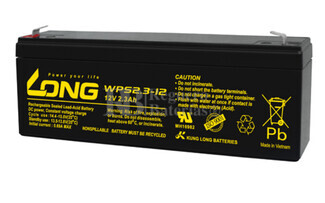 Batería 12 Voltios 2,3 Amperios Long WPS2.3-12