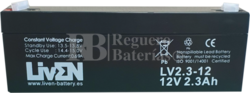 Batería 12 Voltios 2,3 Amperios LV2.3-12