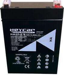 Batería 12 Voltios 2.9 Amperios Heycar HA12-2.9