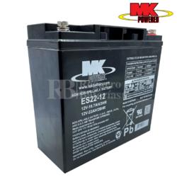 Bateria 12 Voltios 22 Amperios MK ES22-12