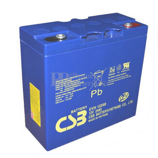 Batería 12 Voltios 24 Amperios Csb  EVH12240