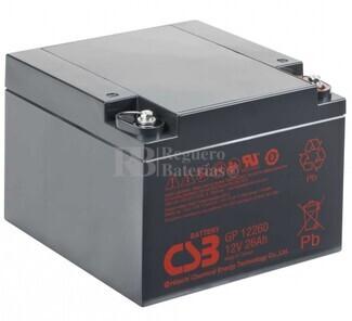 Batería 12 Voltios 26 Amperios Csb GP12260