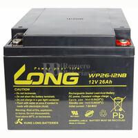 Batería 12 Voltios 26 Amperios Long WP26-12NB