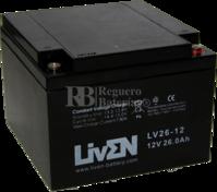 Batería 12 Voltios 26 Amperios LV26-12