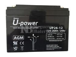 Batería 12 Voltios 26 Amperios U-Power UP26-12